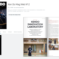 The French Kendo Federation's official newspaper introduced the activities of the Kendo Innovation Laboratory.